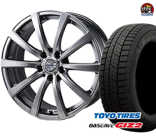 トーヨータイヤ ガリットGIZ2 ギズ2 205/60R16 スタッドレス タイヤ・ホイール 新品 4本セット ザック JP-110 パーツ バランス調整済み!