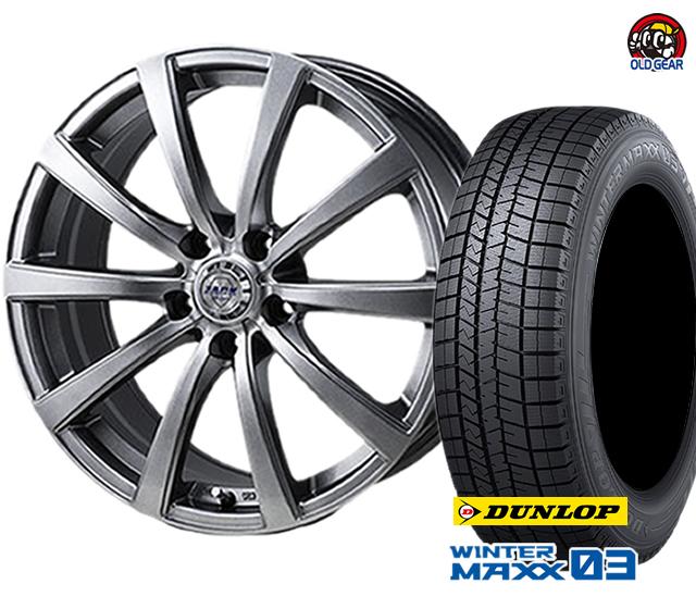 ダンロップ ウインターマックス03 WM03 175/55R15 スタッドレス タイヤ・ホイール 新品 4本セット ザック JP-110 パーツ バランス調整済み!