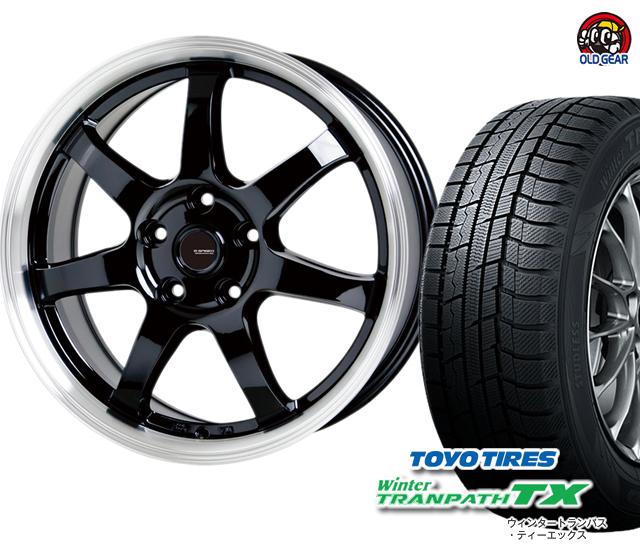 本物保証!  トーヨータイヤ ウィンタートランパスTX 225/55R18 スタッドレス タイヤ・ホイール 新品 4本セット Gスピード P-03 パーツ バランス調整済み!, トヨヒラク a4db0455