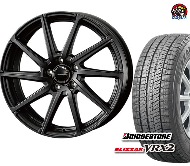 新品 パーツ VRX2 バランス調整済み! ブリヂストン エアベルグ コーセー 155/55R14 タイヤ・ホイール スタッドレス ブリザック 4本セット ローレン