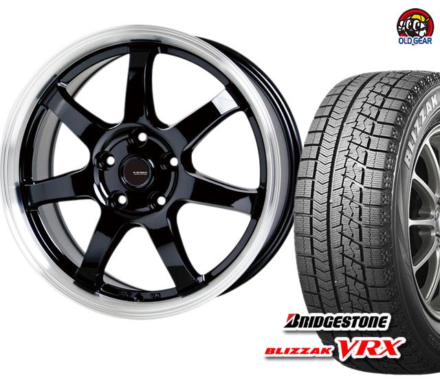 パーツ 165/65R13 4本セット スタッドレス バランス調整済み! VRX タイヤ・ホイール Gスピード P-03 新品 ブリヂストン ブリザック