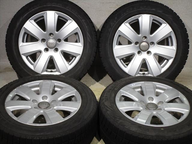 ホイールタイヤ 4本セット 205/55R16 純正 アウディ純正 16x7.5J+45 5H-112 新品 スタッドレス タイヤ TOYO ガリット GIZ