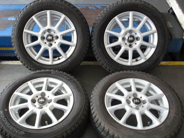 中古 ホイールタイヤ 4本セット 175/65R14社外 グリモア 14x5.5J+45 4H100 中古 ラジアル タイヤ トーヨー SD-7