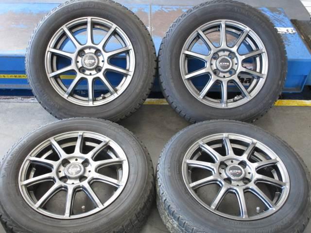 中古 ホイールタイヤ 4本セット 175/65R14社外 キノ スポーツ 14x5.5J+45 4H100 中古 ラジアル タイヤ トーヨー SD-7