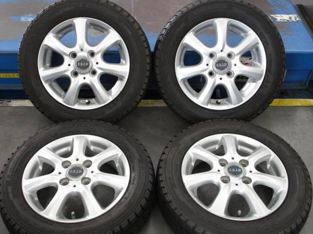 中古ホイールタイヤ 4本セット 155/65R13社外 FEID 13x4J+45 4H100 中古 ラジアル タイヤ ブリヂストン ネクストリー