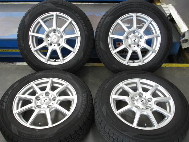 中古 ホイールタイヤ 4本セット 195/65R15社外 G-マッハ 15x6J+53 5H114.3 中古 ラジアル タイヤ トーヨー SD-7