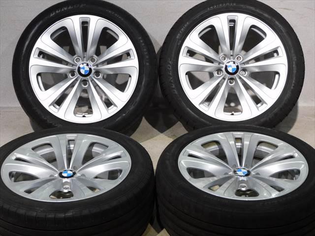 中古 ホイールタイヤ 4本セット 245/45R18 2014年製 1分山程度 中古純正 BMW 5シリーズ F10純正 18x8J+30 5H120 中古 ラジアル タイヤ ダンロップ SPSPORT MAXX GT