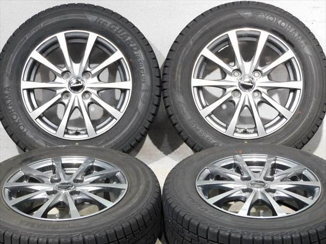 中古 ホイールタイヤ 4本セット 175/70R14 社外 エクシーダー 14x5.5J+45 4H100 中古 ラジアル タイヤ 特選輸入タイヤ