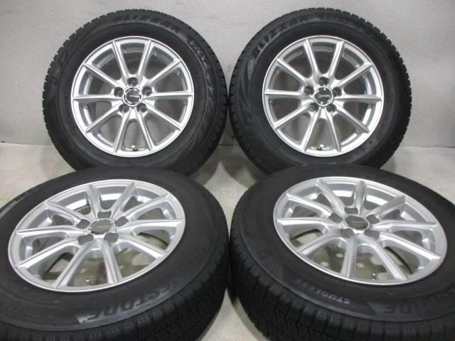 中古 ホイールタイヤ 4本セット 195/65R15社外 ECO FORME 15x6.5J+40 5H100 中古 ラジアル タイヤ トーヨー SD-7
