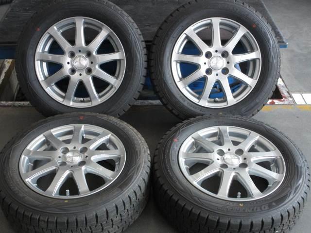 中古 ホイールタイヤ 4本セット 175/65R14 社外 エクシーダー 14x5.5J+45 4H100 中古 ラジアル タイヤ 特選輸入タイヤ