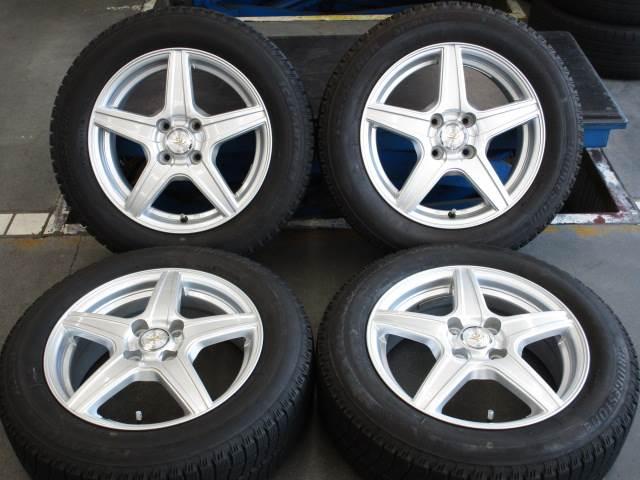 中古 ホイールタイヤ 4本セット 175/65R15 社外 ヴァルタ 15x5.5J+43 4H100 中古 ラジアル タイヤ 特選輸入タイヤ