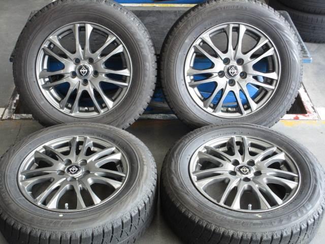 中古 ホイールタイヤ 4本セット 195/65R15社外 WEDS ヴェルヴァ 15x6J+43 5H100 中古 ラジアル タイヤ トーヨー SD-7