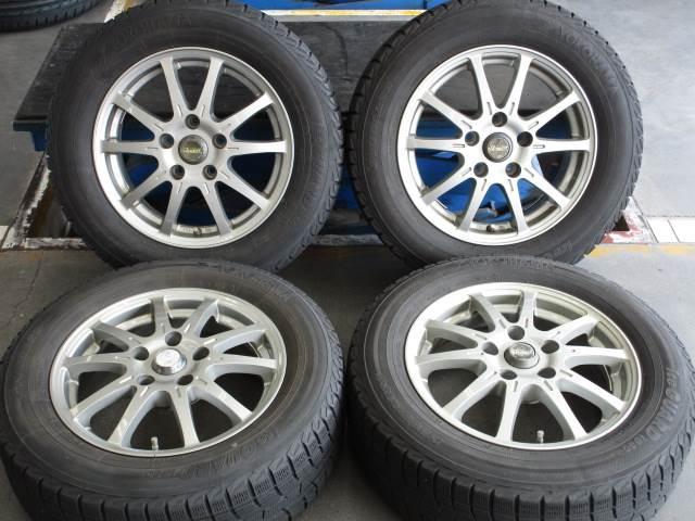 中古 ホイールタイヤ 4本セット 195/65R15社外 クアント 15x6J+43 5H114.3 中古 ラジアル タイヤ トーヨー SD-7
