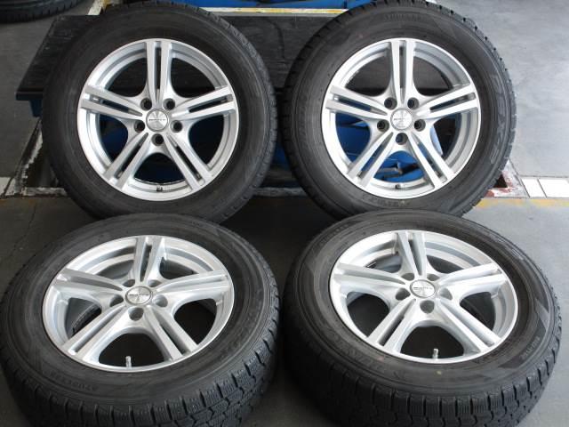 中古 ホイールタイヤ 4本セット 195/65R15 社外 ヴァーレン 15x6J+43 5H100 中古 ラジアル タイヤ 特選輸入タイヤ