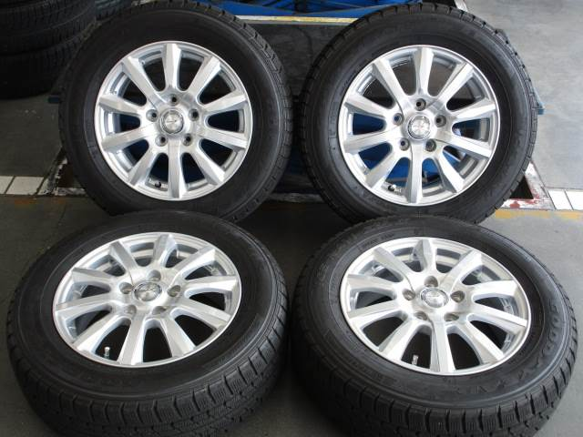 中古 ホイールタイヤ 4本セット 195/65R15社外 ジョーカー 15x6J+53 5H114.3 中古 ラジアル タイヤ トーヨー SD-7