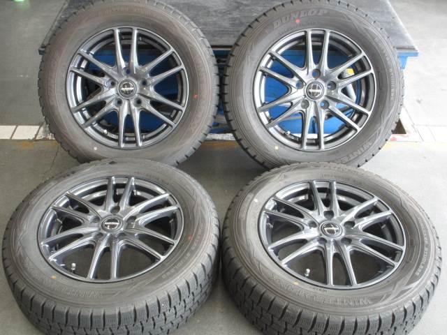 中古 ホイールタイヤ 4本セット 195/65R15社外 ヴァーレン 15x6J+53 5H114.3 中古 ラジアル タイヤ トーヨー SD-7