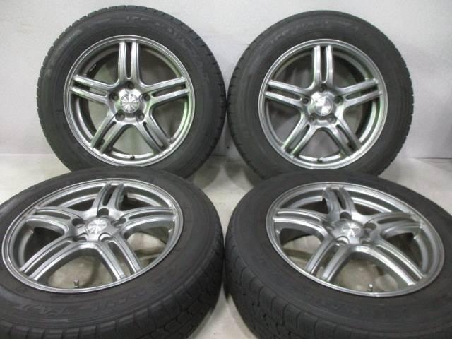 中古ホイールタイヤ 4本セット 205/60R16社外 WAREN 16x6.5J+53 5H114.3 中古 スタッドレス タイヤ トーヨー ガリット G5