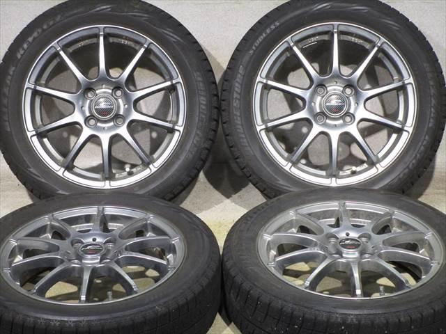中古ホイールタイヤ 4本セット 165/60R15社外 シュナイダー 15x4.5J+43 4H100 中古 スタッドレス タイヤ トーヨー ウインタートランパス TX