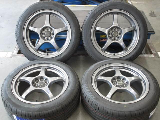 中古ホイールタイヤ 4本セット 195/55R16社外 シュナイダー 16x6.5J+40 4H100 中古 スタッドレス タイヤ トーヨー ガリット G5