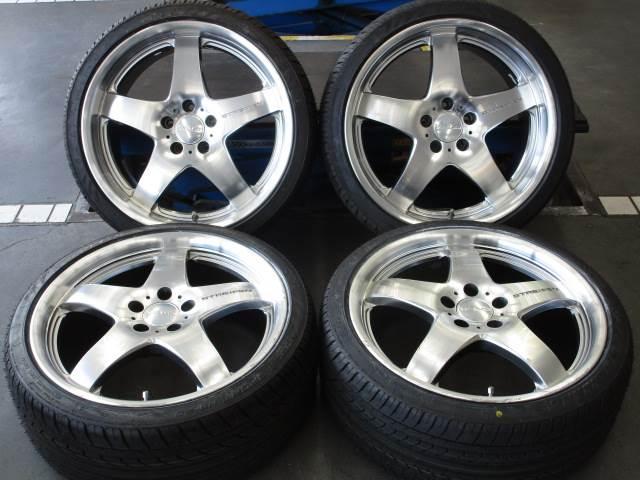 中古 ホイールタイヤ 4本セット 235/35R19 2013年製 中古社外 ヴァルド 19x8.5J+38 5H114.3 未使用 ラジアル タイヤ ナンカン NOBLS スポーツ NS-20