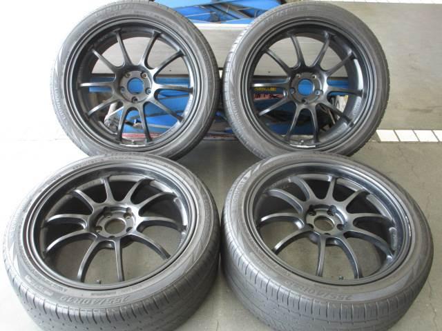 中古ホイールタイヤ 4本セット 255/40R19社外 アドバンレーシング RZ-DF 19x8.5J+45 5H112 中古 ラジアル タイヤ コンチネンタル エクストリームコンタクト DWS06