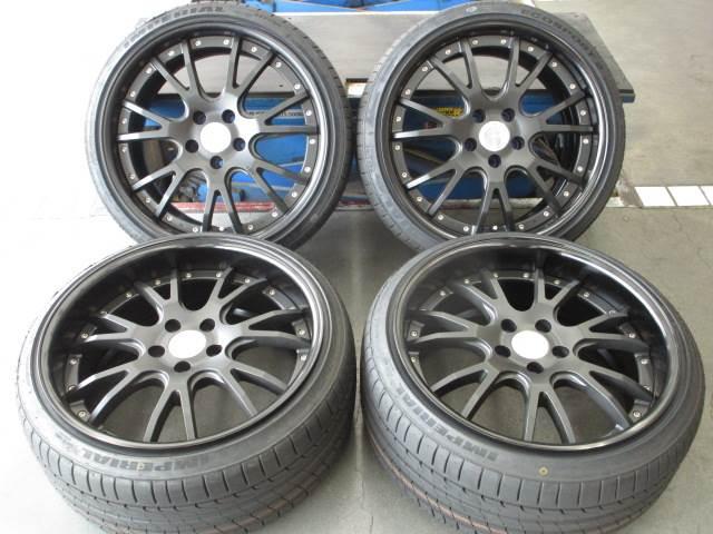 中古 ホイールタイヤ 4本セット 225/35R19 社外 WORK グノーシス GS4 19x9J+40 5H114.3 中古 ラジアル タイヤ 特選輸入タイヤ