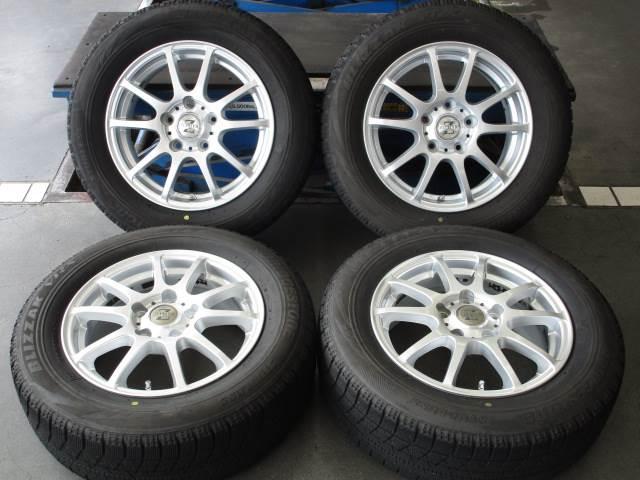 中古 ホイールタイヤ 4本セット 195/65R15 社外 ゼファー 15x6J+50 5H114.3 中古 ラジアル タイヤ 特選輸入タイヤ