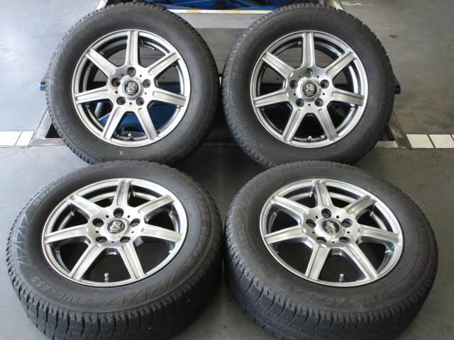 中古ホイールタイヤ 4本セット 195/65R15社外 マナレイスポーツ 15x6J+50 5H114.3 中古 スタッドレス タイヤ トーヨー ガリット GIZ