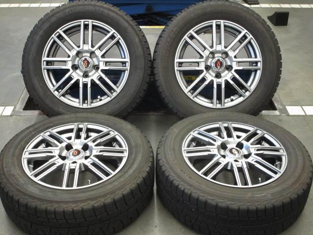 中古ホイールタイヤ 4本セット 215/60R16社外 ティラード トヨタ専用 16x6.5J+38 5H114.3 中古 スタッドレス タイヤ トーヨー ガリット G5