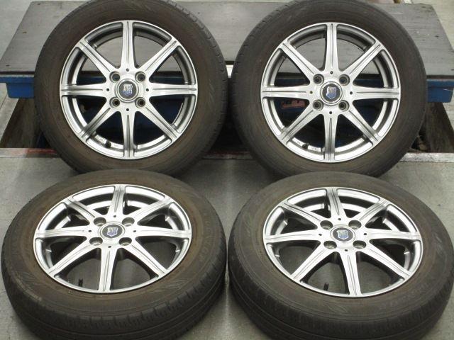在庫商品 送料無料バランス調整済み 豊富な商品ラインナップ 全国18店舗の安心をお客様にお届けいたします ストアー 中古ホイールタイヤ 4本セット 155 65R14社外 クリムソン 中古 4H100 14x4.5J+43 豊富な品 VRX2 タイヤ ブリヂストン ブリザック スタッドレス