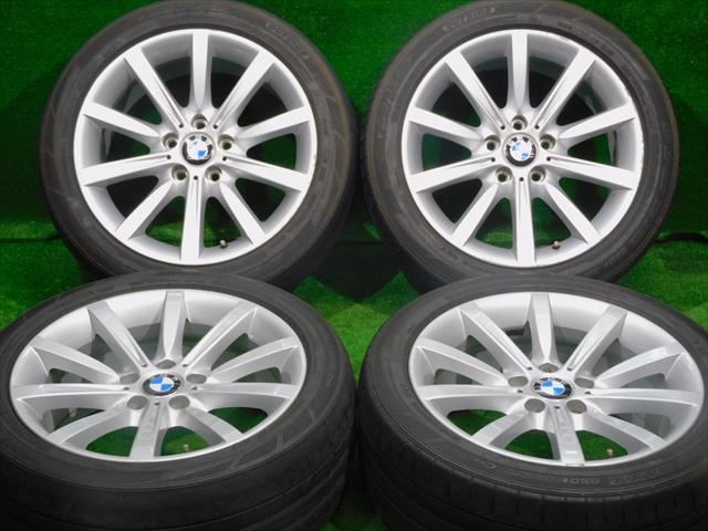 在庫商品 送料無料バランス調整済み 豊富な商品ラインナップ 全国18店舗の安心をお客様にお届けいたします 12時まで即納 中古 ホイールタイヤ 4本セット 245 45R18 2016年製 3分山程度 中古純正 ダンロップ SP 5シリーズ スポーツマックス BMW ラジアル 代引き不可 タイヤ 5H120 純正 18x8J+30 050プラス 激安 F10