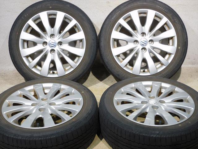 高級ブランド ホイールタイヤ 4本セット 185/55R16純正 スズキ純正 16x6J+45 4H100  ラジアル タイヤ ブリヂストン ネクストリー, 河野村 ab381207