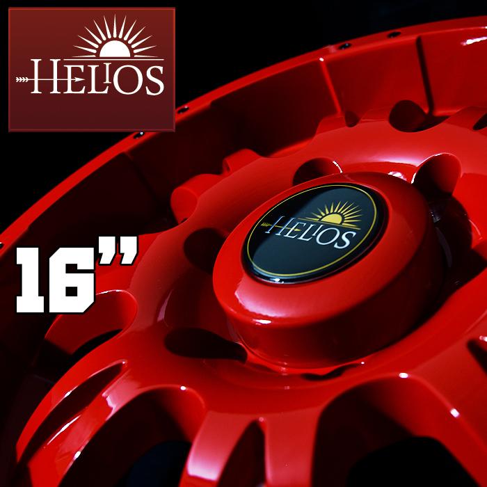 HELIOS ヘリオス 200系 ハイエース 1型 2型 3型 4型 16インチ ホイール 6.5j+35 139.7 6H ソリッドレッド 4本セット