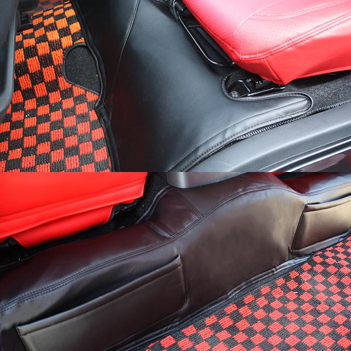 ハイエース 200系 標準 デッキカバー フロント & リア レザー ブラックレザー