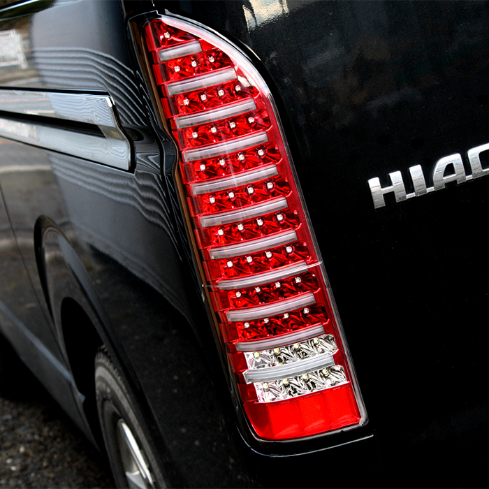 200系 ハイエース テールランプ フルLED フルファイバー 全6色