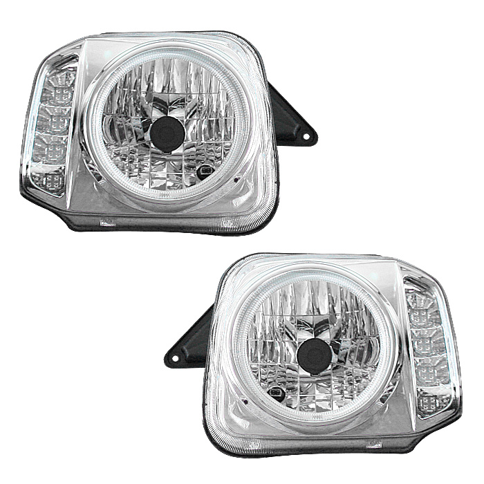 JB23 ジムニー CCFLリング付き LED ウィンカー ヘッドライト クリア 左右セット