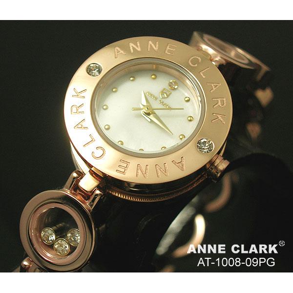 ANNE CLARK(アンクラーク)ムービングストーンチェーンブレス腕時計 AT1008-09PG ピンクゴールド