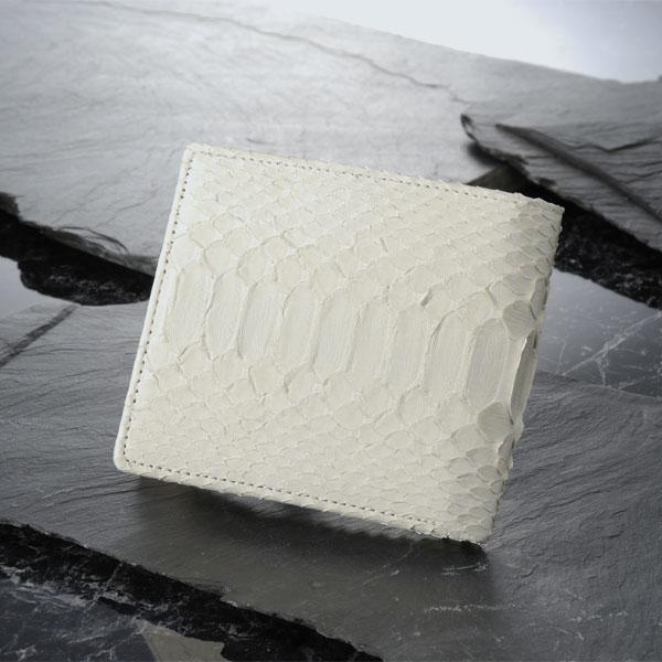 【送料無料】白蛇 二つ折り財布