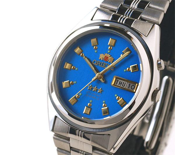 Orient Overseas model mens automatic winding TEM4J003L aqua blue
