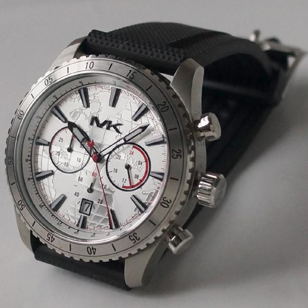 bcabb04459dc Watch watch for the Michael Kors Michael Kors MK8353 rubber black belt  chronograph men watch man