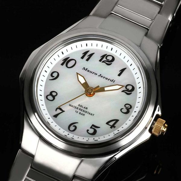 Jerardi Mauro Mauro Gerardi titanium solar mens watch number index / white MJ039-4