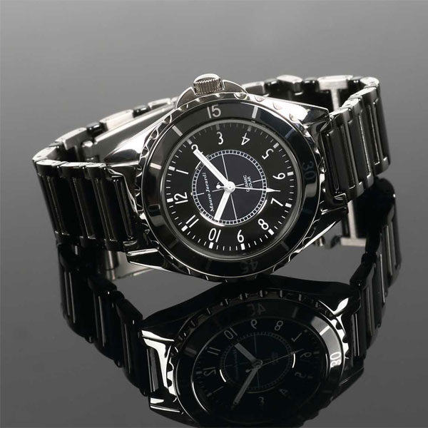Jerardi Mauro Mauro Gerardi stainless steel & ceramic solar mens watch black MJ041-1