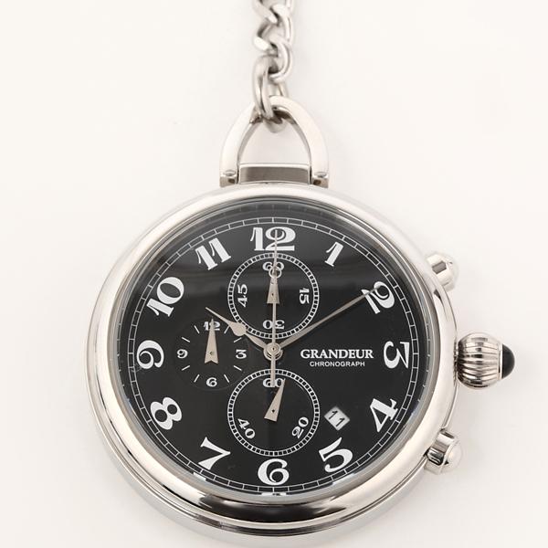 GRANDEURグランドール クロノグラフ機能付懐中時計olt001 w2 カラー/黒