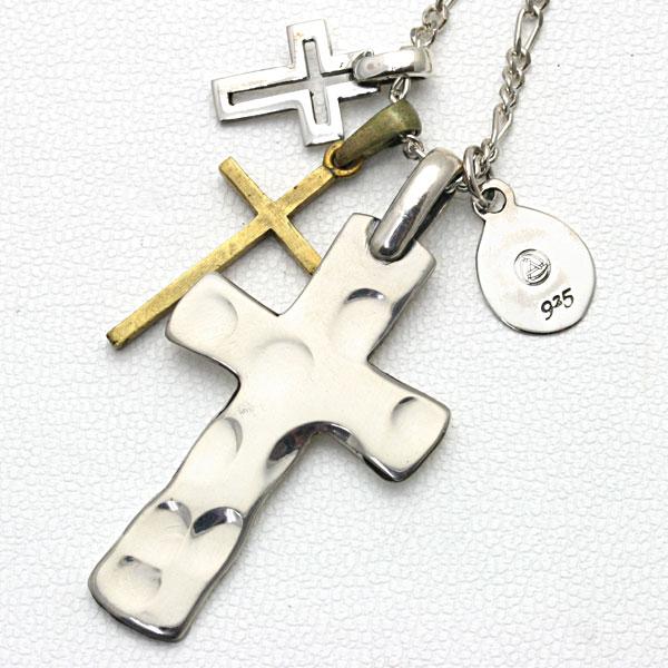 amp japan アンプジャパン ネックレス メンズネックレス 「1st. Cross」 タタキクロス 1AO-110 【ギフトOK】【smtb-k】 men's ネックレス