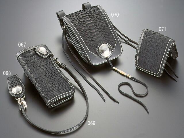 CALF/カーフ レザー&蛇革 バージョン メディスン バッグ・中 CALF-070 【ギフトOK】【smtb-k】