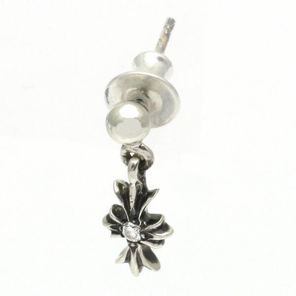 Chrome Hearts Single Drop Pierced Earring Tiny E Ch Plus H1 And Diamond Che 010 Fs3gm