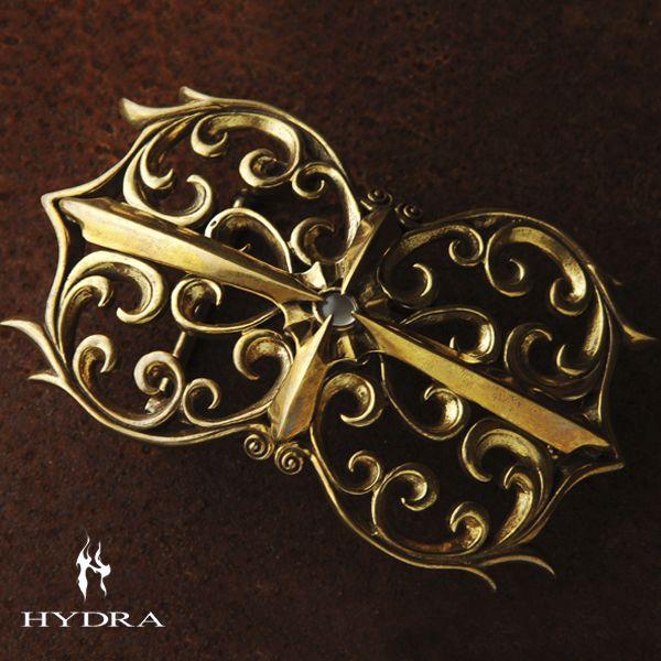HYDRA/ヒドラ 「受注生産品」 HBK002B アラベスクモチーフ バックル(ブラス)【ギフトOK】【smtb-k】