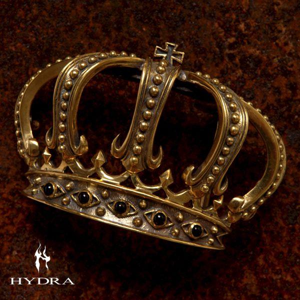 HYDRA/ヒドラ 「受注生産品」 HBK004B クラウンモチーフ バックル(ブラス)【ギフトOK】【smtb-k】