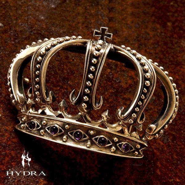 HYDRA/ヒドラ 「受注生産品」 HBK004SV クラウンモチーフ バックル(シルバー)【ギフトOK】【smtb-k】