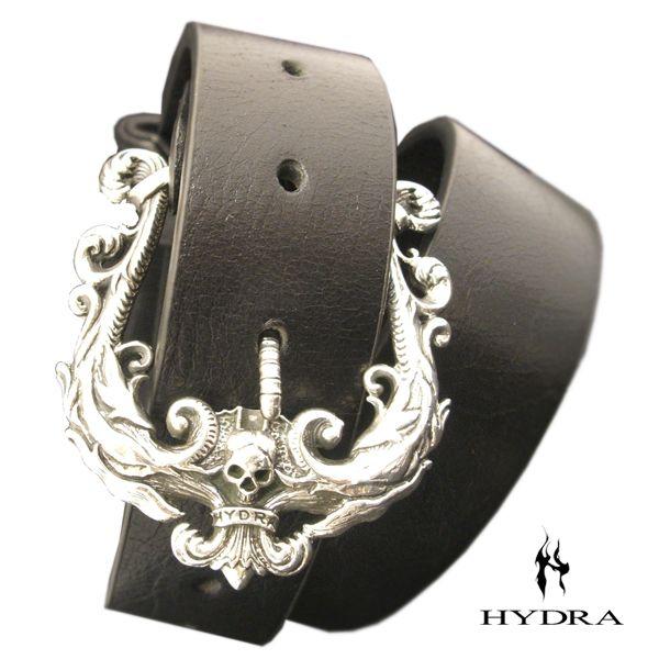 HYDRA/ヒドラ 「受注生産品」 HBK007SV アラベスク&スカル バックル(シルバー) ベルト付き【ギフトOK】【smtb-k】